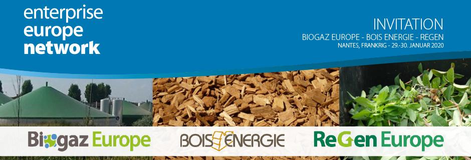 Fællesstand og matchmaking på 3 messer i Nantes - Biogaz, Bois Energie og ReGenie Europe 2020